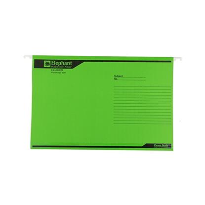 รูปภาพของ แฟ้มแขวน ตราช้าง 925 F4 สีเขียว (แพ็ค 10 เล่ม)