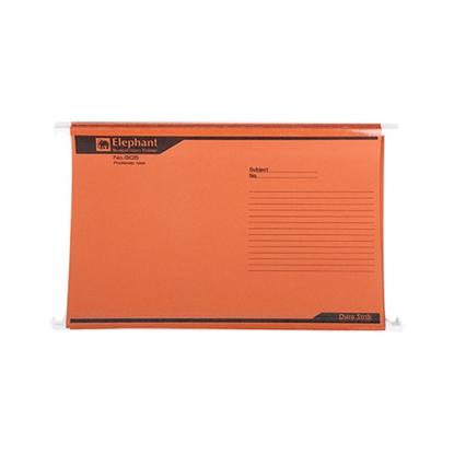 รูปภาพของ แฟ้มแขวน ตราช้าง 905 F4 สีส้ม (แพ็ค 10 เล่ม)