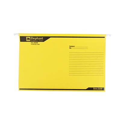 รูปภาพของ แฟ้มแขวน ตราช้าง 925 F4 สีเหลือง (แพ็ค 10 เล่ม)