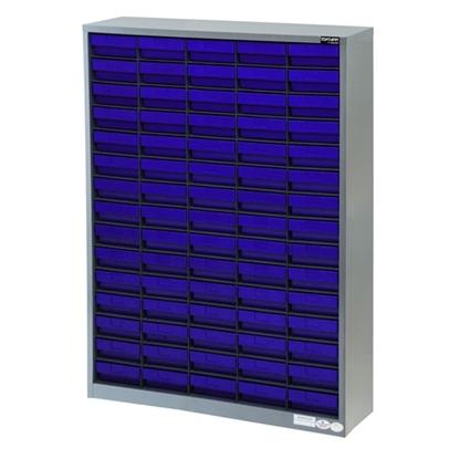 รูปภาพของ ตู้เก็บอะไหล่กลาง TOOLMAX CBL0515N 15 ชั้น 75 ช่อง(ตู้เทา กล่องน้ำเงิน)