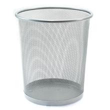 รูปภาพของ ถังขยะกลมฝาเปิด ออร์ก้า H-9662L ขนาดใหญ่ (29.5 x 29.5 x 34.7 ซม.) สีเงิน