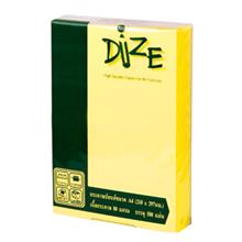 รูปภาพของ กระดาษสีถ่ายเอกสาร ไดซ์ No.08 80/500 A4 สีเหลืองเข้ม