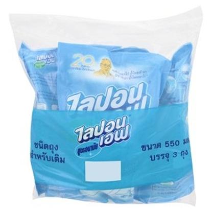 รูปภาพของ น้ำยาล้างจานไลปอนเอฟ ชนิดถุงเติม 550 มล. (3 ถุงต่อแพค)