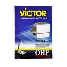 รูปภาพของ แผ่นใส วิคเตอร์ สำหรับถ่ายเอกสาร 100 ไมครอน A4 (กล่อง 100 แผ่น)