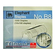 รูปภาพของ ลวดเย็บกระดาษ ตราช้าง Titania เบอร์ B8