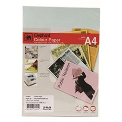 รูปภาพของ กระดาษสีถ่ายเอกสาร ตราช้าง A4 80/500 สีฟ้า