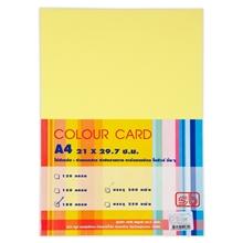 รูปภาพของ กระดาษการ์ดสี S.B. A4 180g เหลือง (แพ็ค 50 แผ่น)