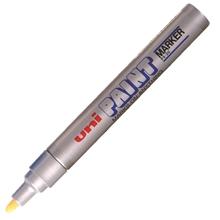 รูปภาพของ ปากกาเพ้นท์ ยูนิ รุ่น PX-30 สีเงิน