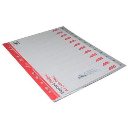 รูปภาพของ อินเด็กซ์พลาสติก PVC ตราช้าง 920 Jan-Dec (12 หยัก) สีเทา