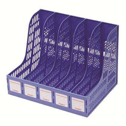 รูปภาพของ กล่องเอกสารพลาสติก โรบิน 125 5 ช่อง(คละสี)