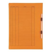รูปภาพของ แฟ้มเจาะสันพับ ใบโพธิ์ 403 ลิ้นแฟ้ม พลาสติก F/C ส้ม