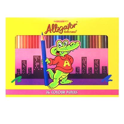 รูปภาพของ ดินสอสีไม้จระเข้ เฟเบอร์-คาสเทลล์ ยาว 36 สี
