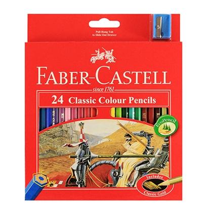 รูปภาพของ ดินสอสีไม้อัศวิน เฟเบอร์-คาสเทลล์ กล่องกระดาษ24 สี