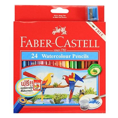 รูปภาพของ ดินสอสีไม้ระบายน้ำนกแก้ว เฟเบอร์-คาสเทลล์  กล่องกระดาษ 24 สี