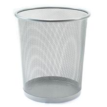 รูปภาพของ ถังขยะกลมฝาเปิด ออร์ก้า H-9661S ขนาดเล็ก (26.8 x 26.8 x 28.5 ซม.) สีเงิน