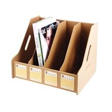รูปภาพของ กล่องเอกสารลายไม้ รีลักส์ MDF-692 ขนาด 4 ช่อง