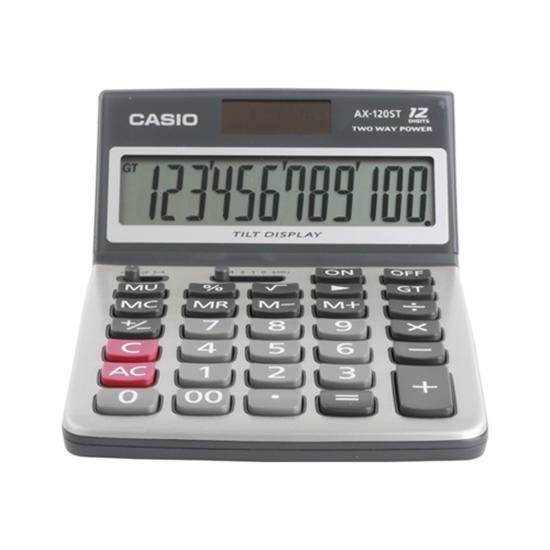 เครื่องคิดเลขตังโต๊ะ เครื่องคิดเลข คาสิโอ AX-120ST 12 หลัก คาสิโอ