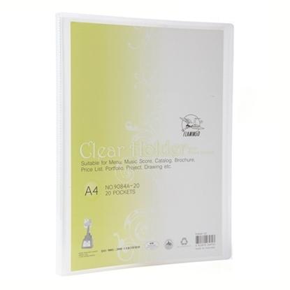 รูปภาพของ แฟ้มโชว์ ฟลามิงโก้ 9084-20 23.8X31 A4ขาว