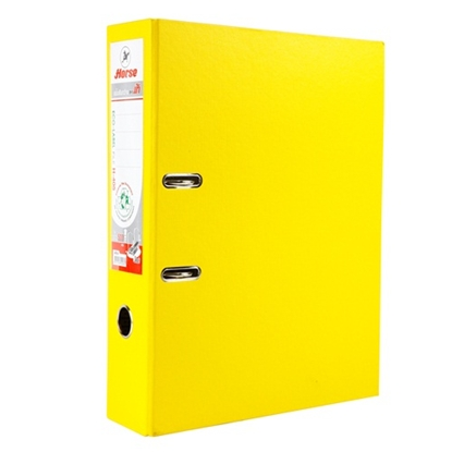 รูปภาพของ แฟ้มสันกว้างม้าH-405 F/Cสัน 8.5ซม.เหลือง