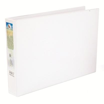 รูปภาพของ แฟ้ม 2 ห่วง ผีเสื้อ A3 สัน 5 ซม.ขาว