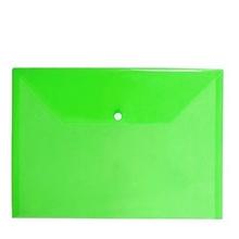 รูปภาพของ ซองพลาสติกกระดุม ใบโพธิ์ 209F F/C 24x36 ซม. เขียว