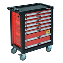 รูปภาพของ ตู้เครื่องมือช่างติดล้อ TOOLMAX WS620R หน้าโต๊ะพลาสติก 8 ลิ้นชัก