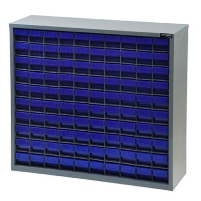 รูปภาพของ ตู้เก็บอะไหล่กลาง TOOLMAX CB1010N 10 ชั้น 100 ช่อง(ตู้เทา กล่องน้ำเงิน)