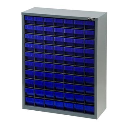 รูปภาพของ ตู้เก็บอะไหล่กลาง TOOLMAX CB0710N 10 ชั้น 70 ช่อง(ตู้เทา กล่องน้ำเงิน)