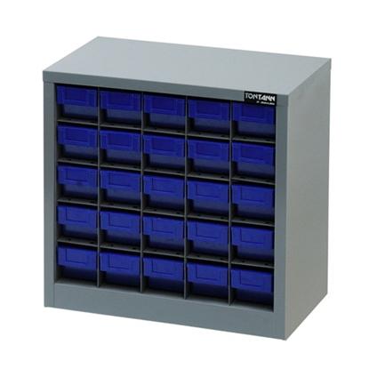 รูปภาพของ ตู้เก็บอะไหล่กลาง TOOLMAX CB0505N 5 ชั้น 25 ช่อง(ตู้เทา กล่องน้ำเงิน)