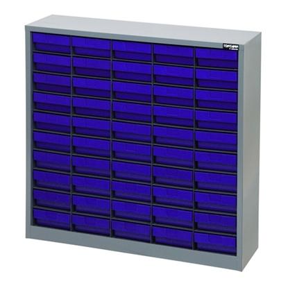 รูปภาพของ ตู้เก็บอะไหล่กลาง TOOLMAX CBL0510N 10 ชั้น 50 ช่อง(ตู้เทา กล่องน้ำเงิน)