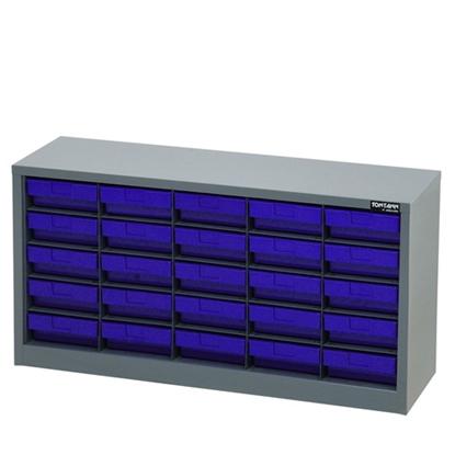 รูปภาพของ ตู้เก็บอะไหล่กลาง TOOLMAX CBL0505N 5 ชั้น 25 ช่อง(ตู้เทา กล่องน้ำเงิน)