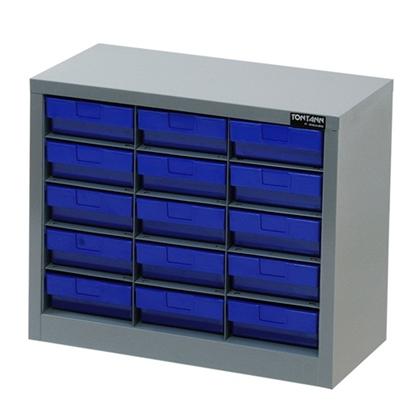 รูปภาพของ ตู้เก็บอะไหล่กลาง TOOLMAX CBL0305N 5 ชั้น 15 ช่อง(ตู้เทา กล่องน้ำเงิน)
