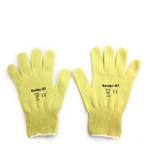 รูปภาพของ ถุงมือถัก Kevlar สีเหลือง กันความร้อน 150 C
