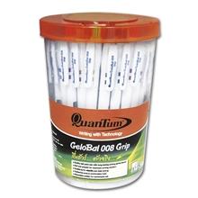 รูปภาพของ ปากกาเจลโล่บอล ควอนตั้ม QCGB-008 0.8 มม. สีน้ำเงิน(กล่อง 50 ด้าม)