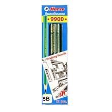 รูปภาพของ ดินสอเขียนแบบ ตราม้า H-9900 5B (กล่อง 12 แท่ง)