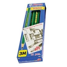 รูปภาพของ ดินสอเขียนแบบ ตราม้า H-9900 3H(กล่อง 12 แท่ง)