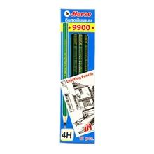 รูปภาพของ ดินสอเขียนแบบ ตราม้า H-9900 4H(กล่อง 12 แท่ง)