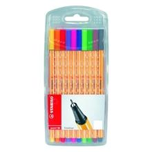 รูปภาพของ ปากกาหัวเข็ม สตาบิโล พ้อยต์ 88/10 0.4 มม.(ชุด 10 สี)