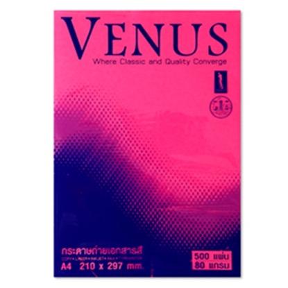 รูปภาพของ กระดาษสีถ่ายเอกสาร วีนัส No.17 A4 80/100 ชมพูเข้มสะท้อนแสง(บานเย็น)