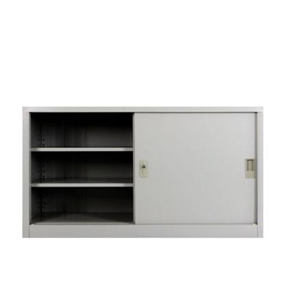 รูปภาพของ ตู้เอกสารเหล็กบานเลื่อนทึบ 3 ชั้น METAL PRO SPSL-1275  สีครีม, สีเทาขาว 120x45x75ซม.