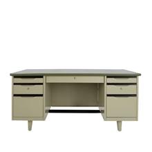 รูปภาพของ โต๊ะทำงานเหล็ก เอเพ็กซ์ATC-2654สีเทา137.2x66x75ซม.