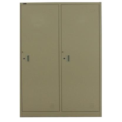 รูปภาพของ ตู้ล็อกเกอร์บานเปิด 2 ประตู METAL PRO SPLK-6102 สีครีม, สีเทา