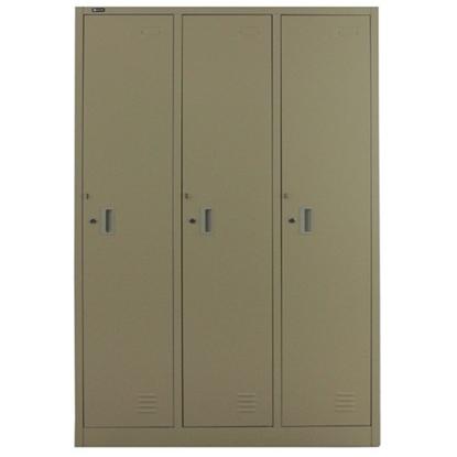 รูปภาพของ ตู้ล็อกเกอร์บานเปิด 3 ประตู SPACE PRO SPLK-6103 สีครีม, สีเทา