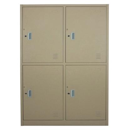 รูปภาพของ ตู้ล็อกเกอร์บานเปิด 4 ประตู SPACE PRO SPLK-6104 สีครีม, สีเทา