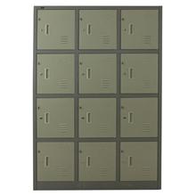 รูปภาพของ ตู้ล็อกเกอร์บานเปิด 12 ประตู METAL PRO SPLK-6112 สีครีม, สีเทา