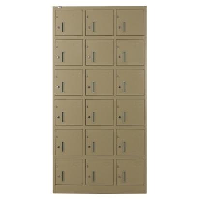 รูปภาพของ ตู้ล็อกเกอร์บานเปิด 18 ประตู METAL PRO SPLK-6118  สีครีม, สีเทา