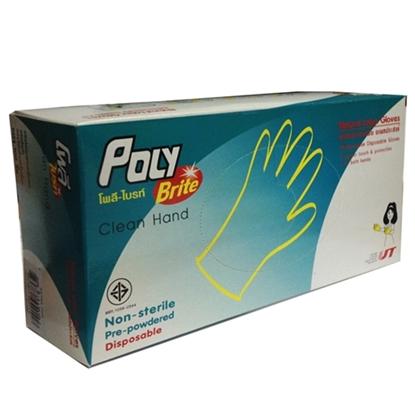 รูปภาพของ ถุงมือยางอนามัย Extra Thin 100 ชิ้น Size S โพลี-ไบรท์ ( 1 Box : 10 กล่องเล็ก )