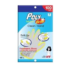 รูปภาพของ ถุงมืออเนกประสงค์ HDPE ( 100 ชิ้น / ซอง ) โพลี-ไบรท์ ( 1 Box : 36 Pack )