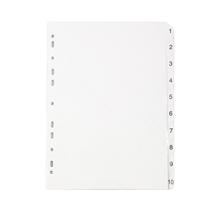 รูปภาพของ อินเด็กซ์กระดาษการ์ดขาว ใบโพธิ์ ชนิด 1-10 A4