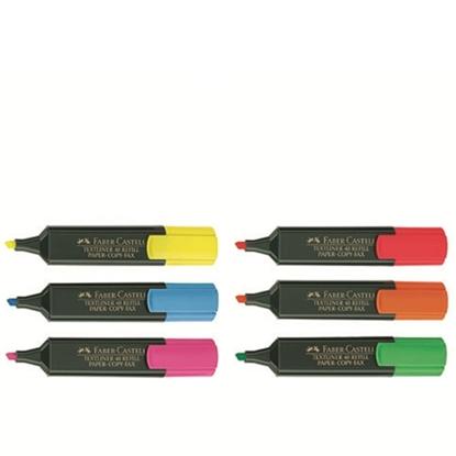 รูปภาพของ ปากกาเน้นข้อความ เฟเบอร์-คาสเทลล์ สะท้อนแสง สีแดง (10ด้าม)